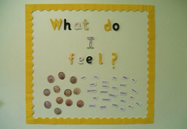 We discuss and explore our feelings.